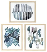 Threshold Framed Watercolor Blue Abstracts 16 x 20 3-Pack