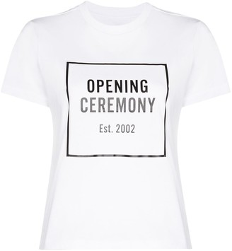Opening Ceremony Box Logo print T-shirt