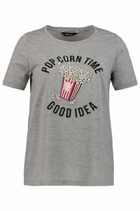Ulla Popken Women's Shirt Popcorn Mit Perlen Classic T