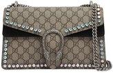 Gucci Small Dionysus Crystals Gg Supreme Bag