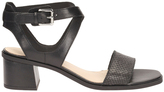 Clarks Ivangelie Ray Black Combi Leather Sandal