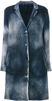 Avant Toi overdyed knitted coat - women - Cotton/Linen/Flax/Cashmere/Polyamide - M