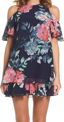 Brinker & Eliza Women's Cold Shoulder Floral Dress