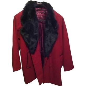 Motel Rocks Motelrocks Burgundy Coat for Women