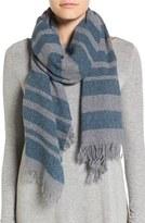 Eileen Fisher Stripe Cashmere & Wool Scarf