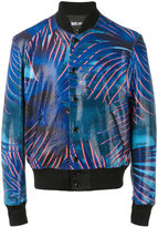 Just Cavalli palm print bomber jacket - men - Polyester/Spandex/Elastane/Viscose - 46