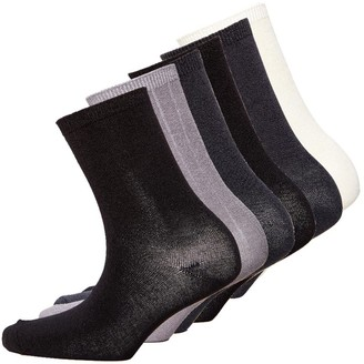 S.O.H.O New York Womens Collection Six Pack Socks Mix Black Cream Black