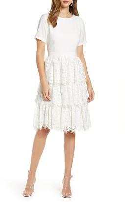 Rachel Parcell Mix Lace Dress