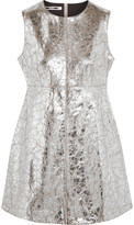 McQ by Alexander McQueen Metallic cracked-leather mini dress