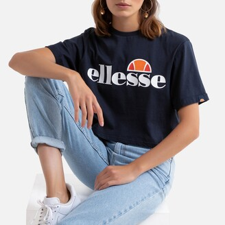 Ellesse Printed Cotton T-Shirt with Crew-Neck
