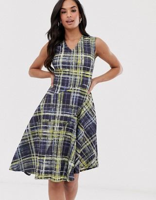 Closet London Closet asymmetric check dress