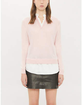 Ted Baker Ilinaa ruffle-trim knitted jumper