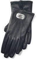 Ralph Lauren Plaque Leather Gloves