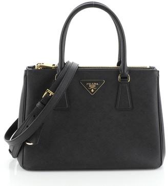 Prada Galleria Double Zip Tote Saffiano Leather Small