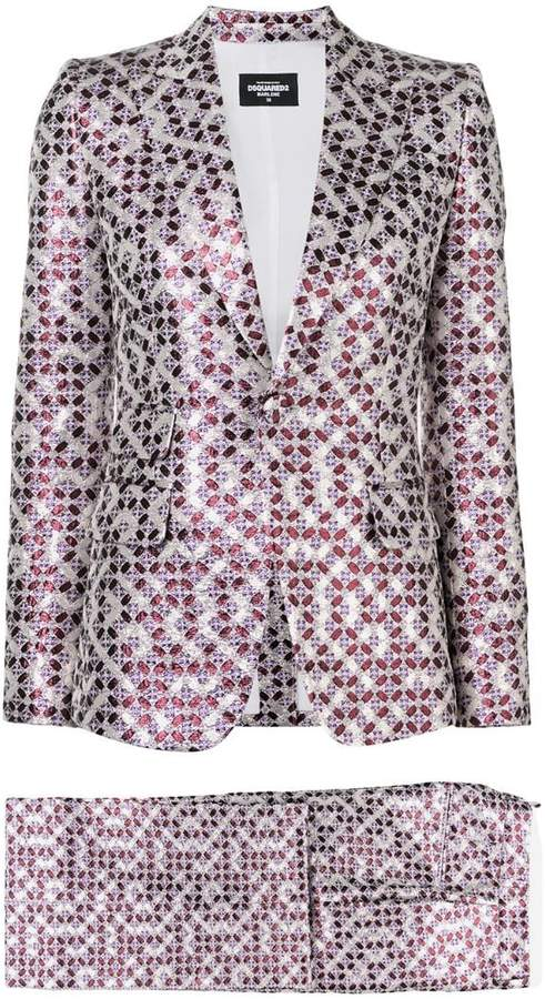 DSQUARED2 patterned two-piece suit
