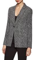 Diane von Furstenberg Charlotte Printed Notch Collar Blazer