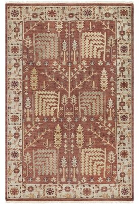 Carlisle Bloomsbury Market Hand-Knotted Wool Clay Area Rug Bloomsbury Market Rug Size: Rectangle 2' x 3'