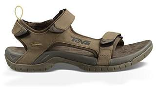 Teva Men's Tanza Leather Sports and Outdoor Sandal, Brown, (43 EU)