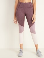 Old Navy High-Waisted Elevate 7/8-Length Color-Block Leggings for Women