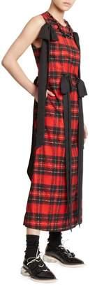 Simone Rocha Beaded & Bowed Tartan Dress