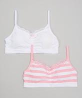 Laura Ashley Crystal Pink Seamless Bra Set - Girls