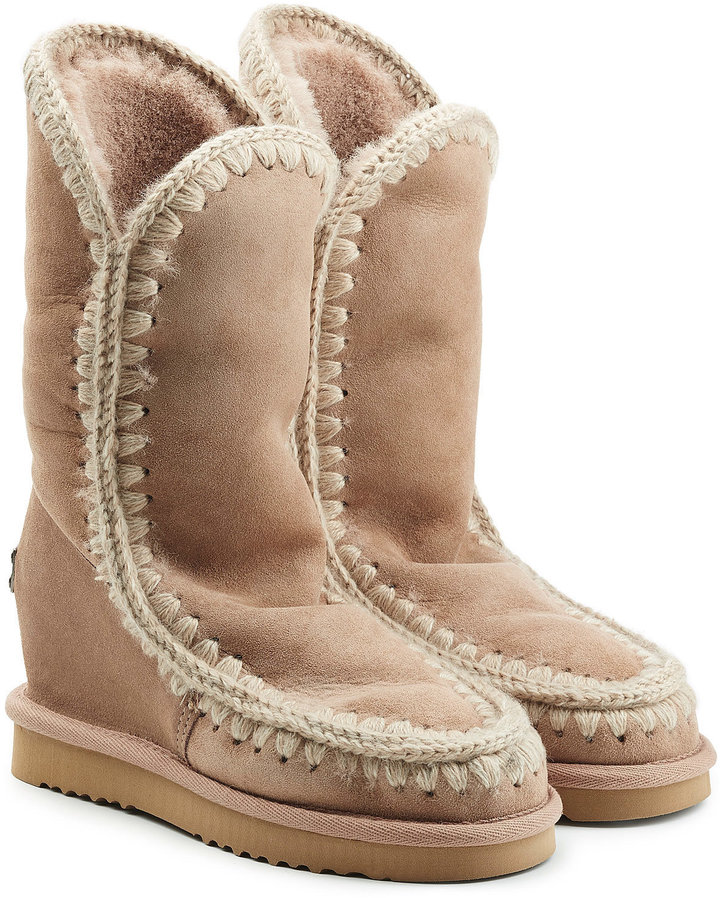 Mou Eskimo Wedge Tall Sheepskin Boots