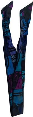 Hermes Twilly 86 Purple Silk Scarves