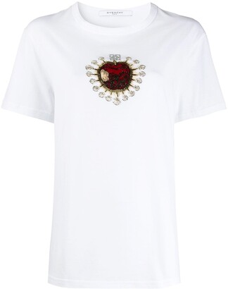 Givenchy embellished apple T-shirt