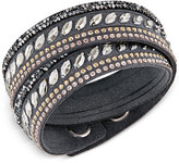 Swarovski Stainless Steel Slake Pulse Crystal Wrap Bracelet
