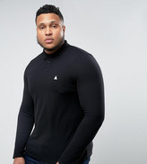 Asos PLUS Pique Long Sleeve Muscle Polo In Black