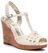 Adrianna Papell Franklin Woven Canvas Wedges