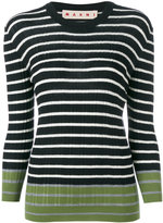 Marni striped contrast sweater - women - Virgin Wool - 40