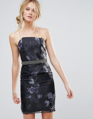 Little Mistress Organza Bodycon Dress