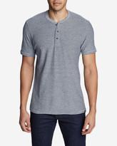 Eddie Bauer Men's Ferox Short-Sleeve Henley Shirt - Textured Stripe