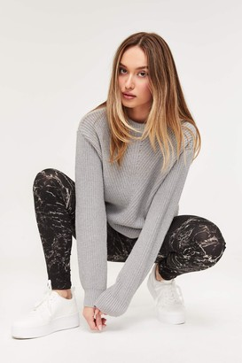 Ardene Marble Color Block Leggings with Mesh
