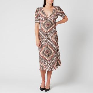 MICHAEL Michael Kors Women's Biclr Puff Sleeve Midi Dress