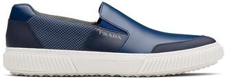 Prada Printed Logo Slip-On Sneakers