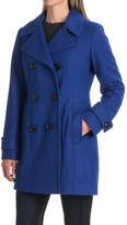 London Fog Button-Down Peacoat - Wool Blend (For Women)