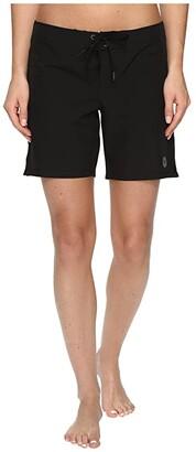 Roxy To Dye 7 Boardshort (True Black) Women's Swimwear