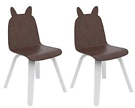 Oeuf Set Of 2 Rabbit Chairs - Brown