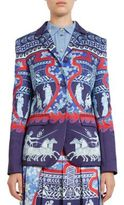 Mary Katrantzou Thera Roman-Print Silk Blazer