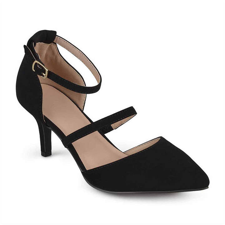 Journee Collection Womens Chaney Pumps Buckle Pointed Toe Stiletto Heel