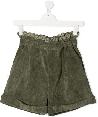 Philosophy Di Lorenzo Serafini Kids TEEN paperbag-waist shorts