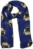 ABC Womens Scarf, Lady Womens Long Soft Cute Pug Dog Print Scarf Shawl Wraps
