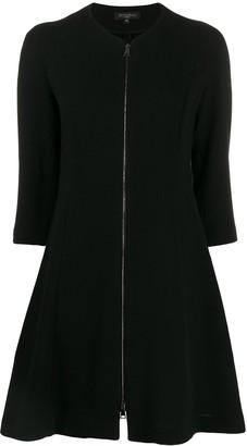 Antonelli zip-up flared dress