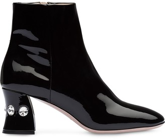 Miu Miu crystal-heeled booties