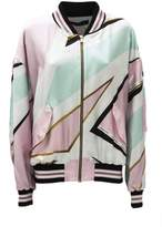 Alexandre Vauthier Pink And White Print Jacket