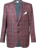 Kiton checked blazer - men - Silk/Linen/Flax/Cashmere - 56