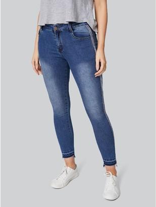 M&Co Izabel mid rise raw hem skinny jeans