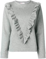 RED Valentino ruffle trim sweatshirt